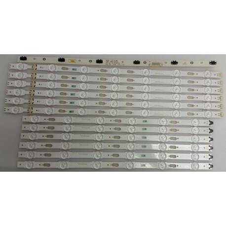 SAMSUNG BN96-37724A/BN96-37725A LED STRIPS - 12 STRIPS + 1 BOARD