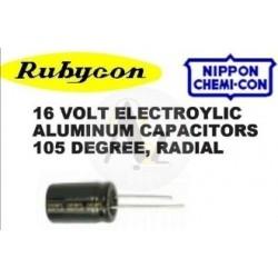 330uf, 16V Radial Capacitor