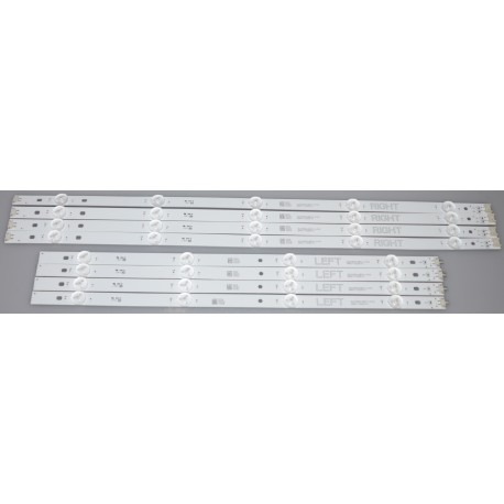LG NC490DGG-AAFX1-41CA Replacement LED Backlight Strips (8)