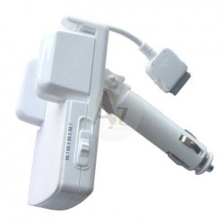 iPod 3 in 1 Car Kit - holder / FM transmitter / charger, white (brand
